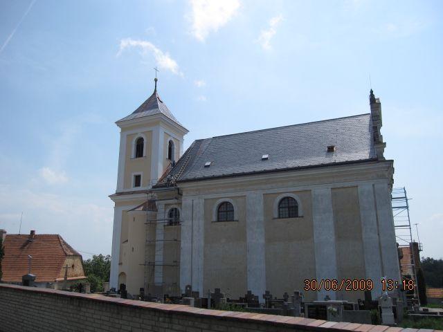 Kostel Syrovín - realizace v roce 2009