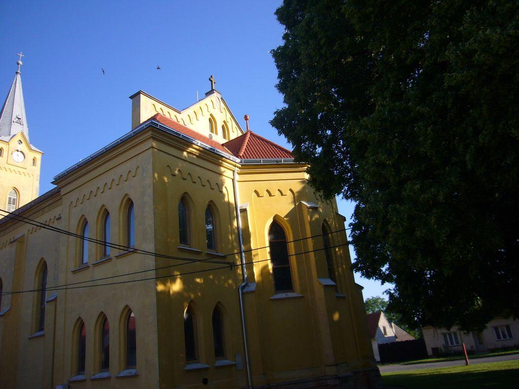 Kostel Moravský Písek - realizace v roce 2009