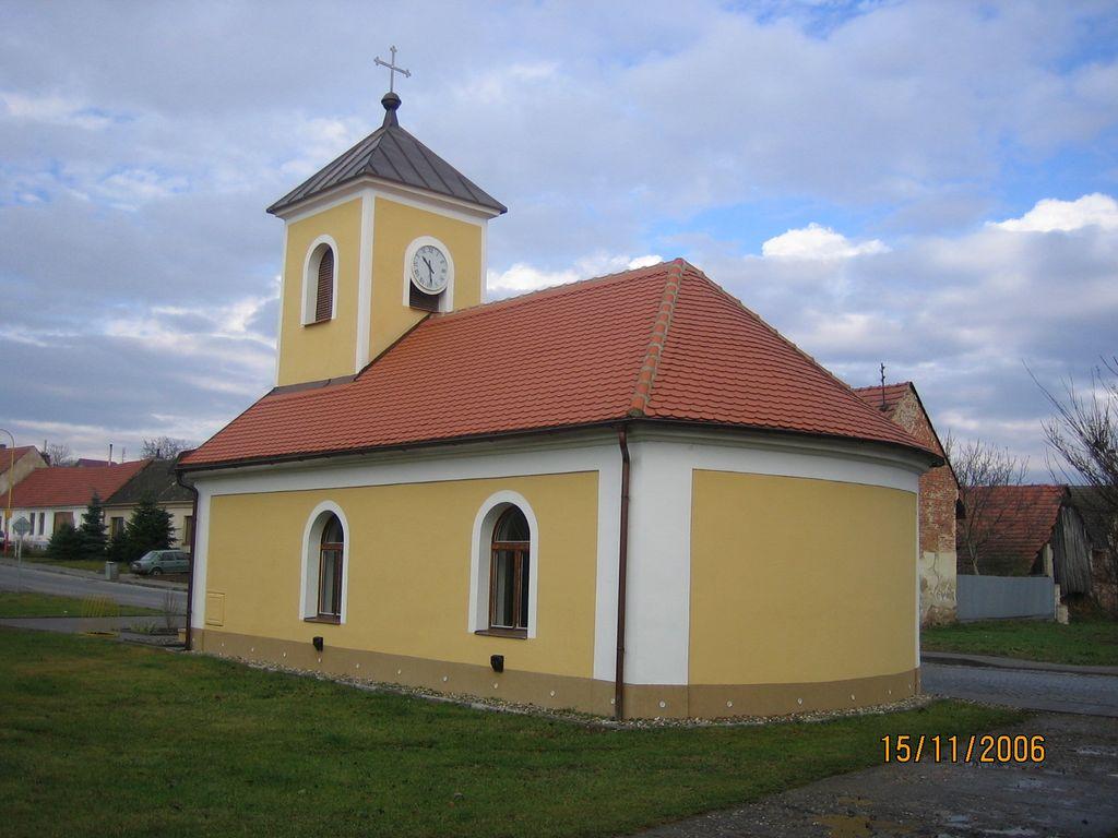 Kaple Těmice - realizace v roce 2005