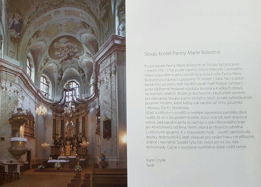 """foto - """"Nejlépe opravená kulturní památka Jihomoravského kraje 2015"""""""